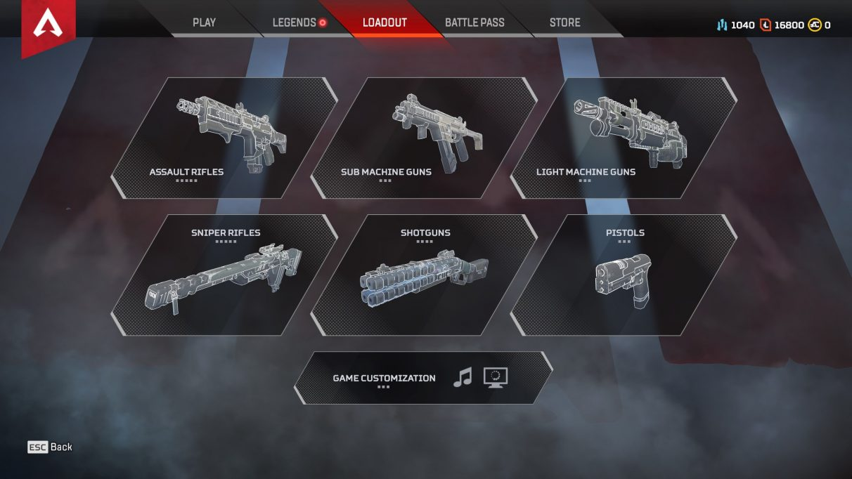 Apex Legends weapons overview