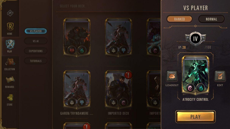 Runeterra rank mode