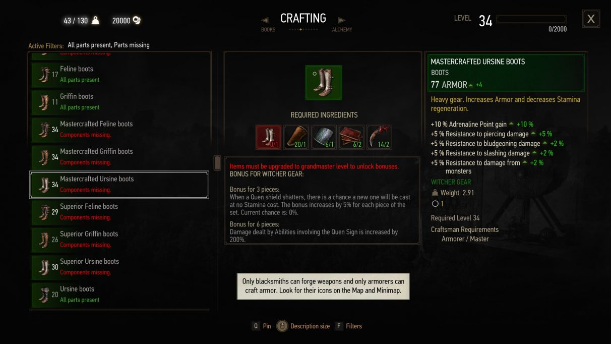 The Witcher 3 armor sets & gear sets guide