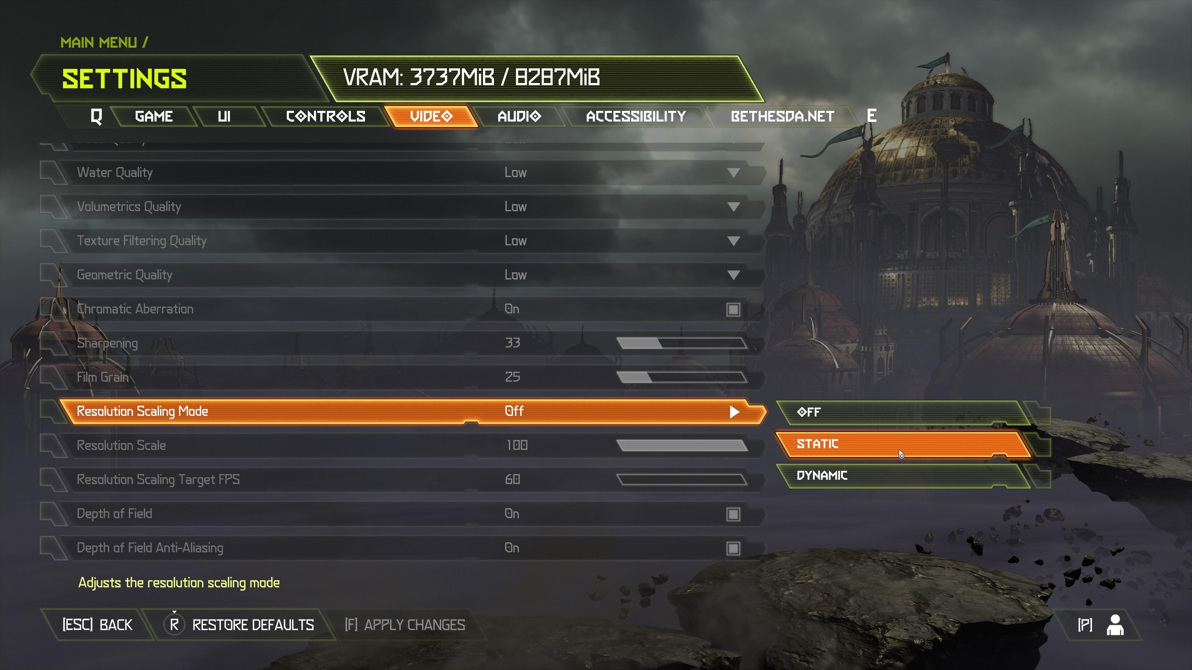 Doom Eternal PC performance dynamic resolution