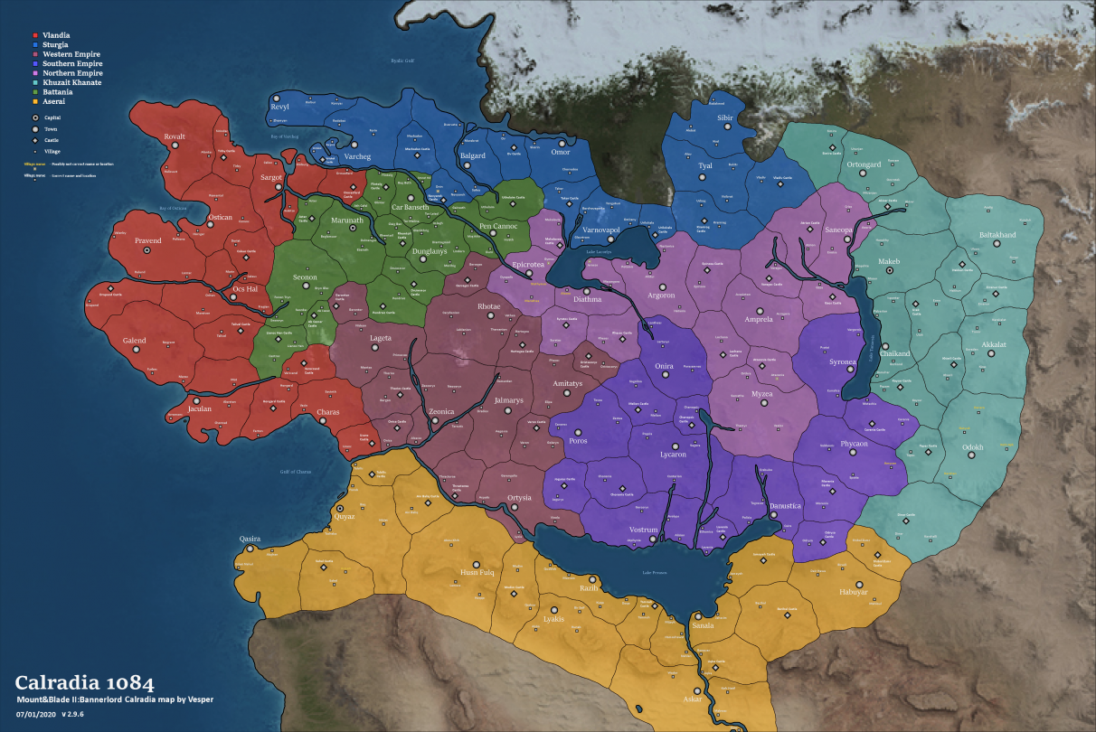 Mount & Blade 2 Bannerlord map