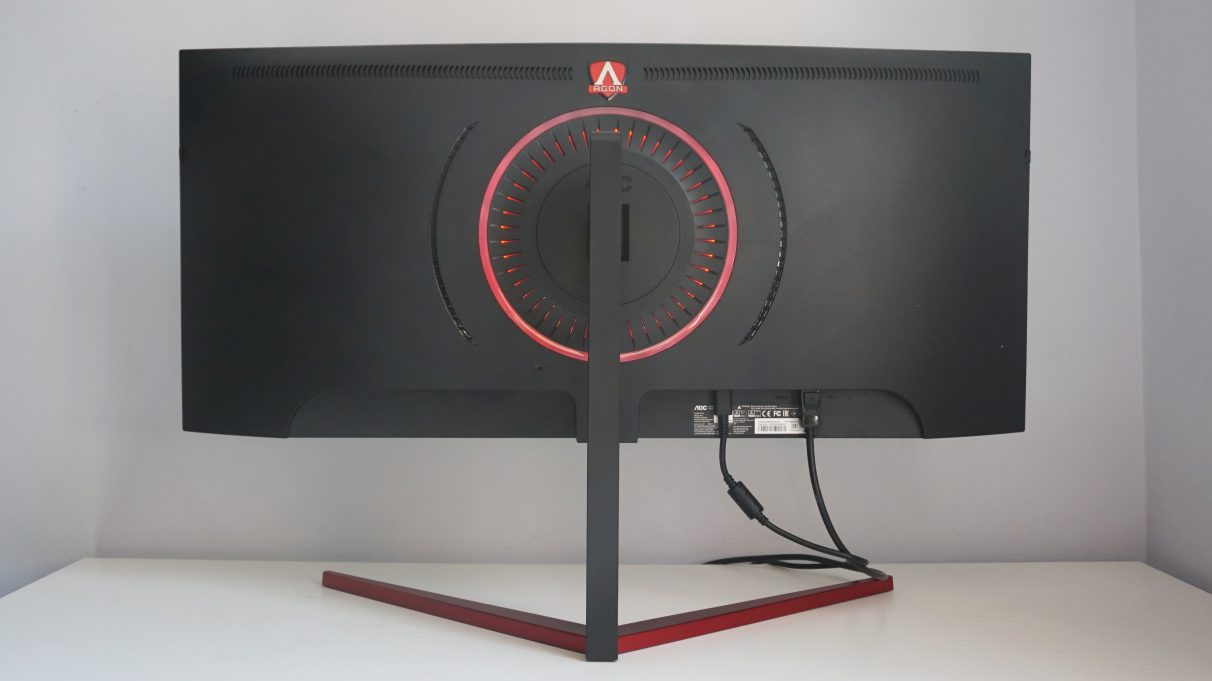 The back of the AOC Agon AG353UCG