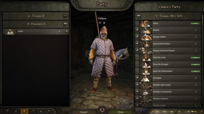 Mount And Blade 2 Bannerlord prisoner