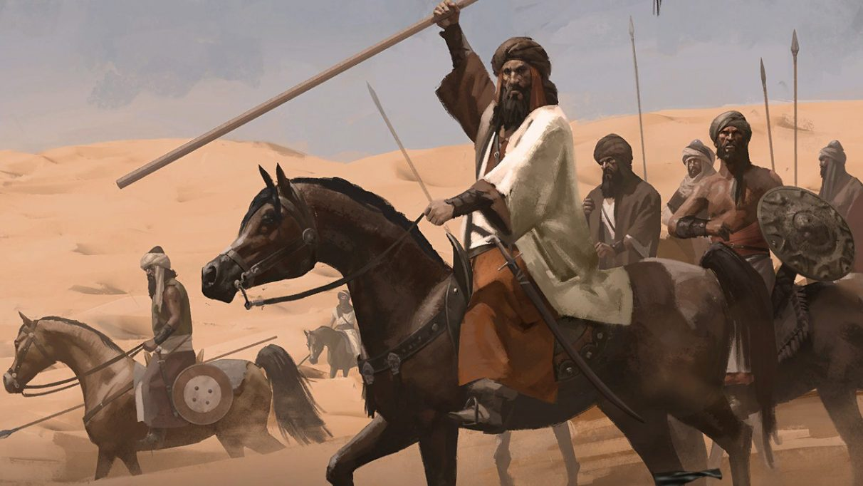 A screenshot of a mounted warrior from Mount And Blade II Bannerlord
