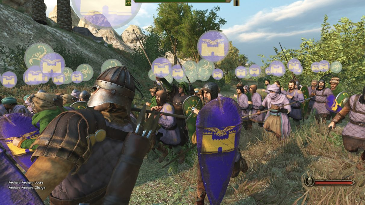 Soldiers fighting in Mount & Blade 2 Bannerlord.
