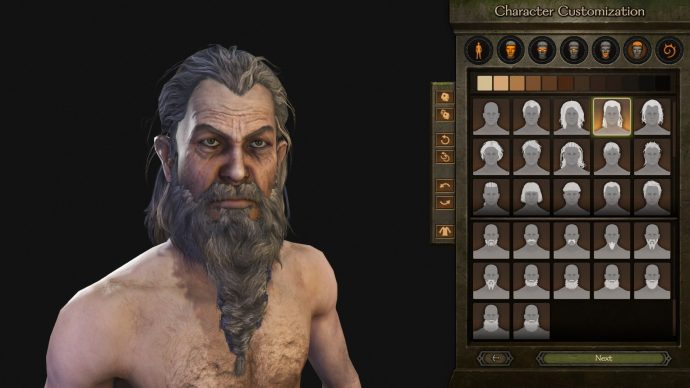 Some more customisation mods allow you to make a weedy old hermit.