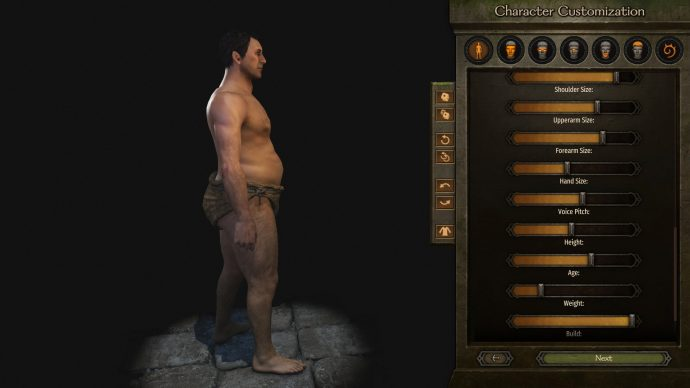 With this mod for Bannerlord, all the sliders do more. This means if you want to create a man who ate an entire farm of chickens, you can do so.
