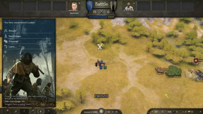 It's not obvious here, but this Bannerlord mod allows you to skip all the fluff and get stuck into a battle quicker.