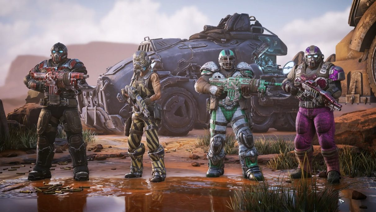 A screenshot of your squad in Gears Tactics