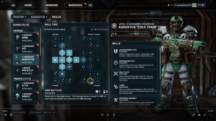 Loadout menu screenshot