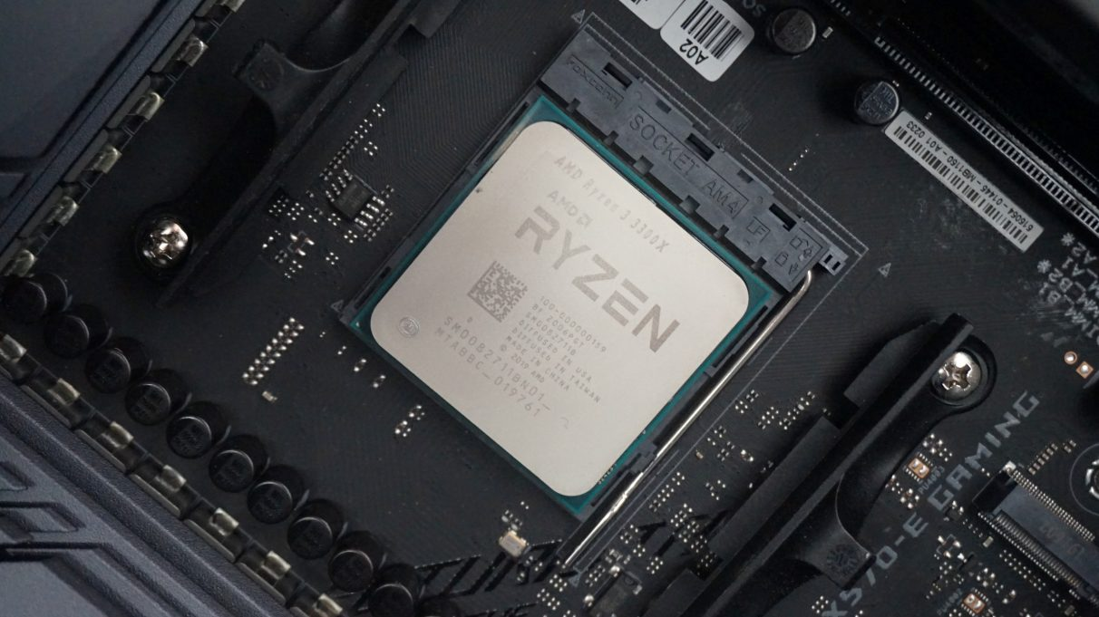 A photo of the AMD Ryzen 3 3300X.