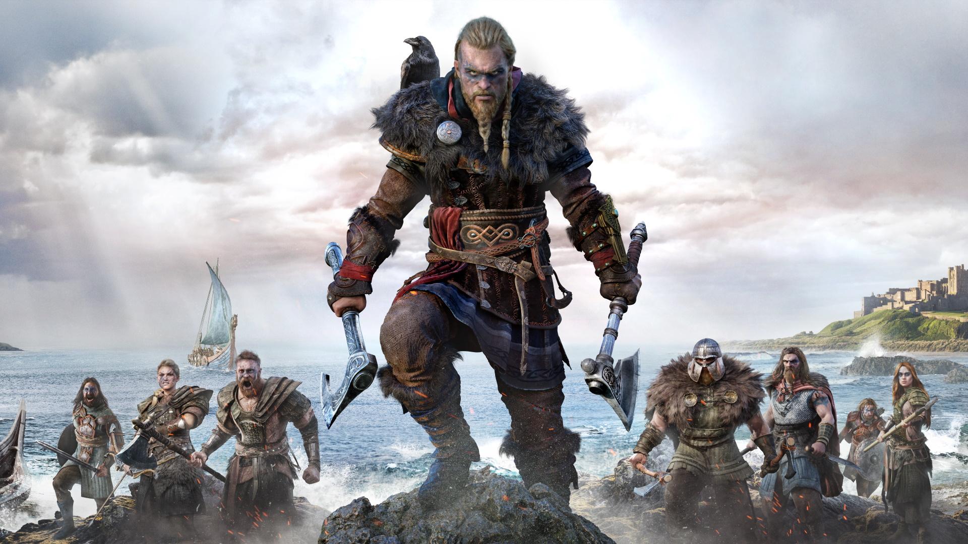 Assassin's Creed Valhalla male Eivor artwork