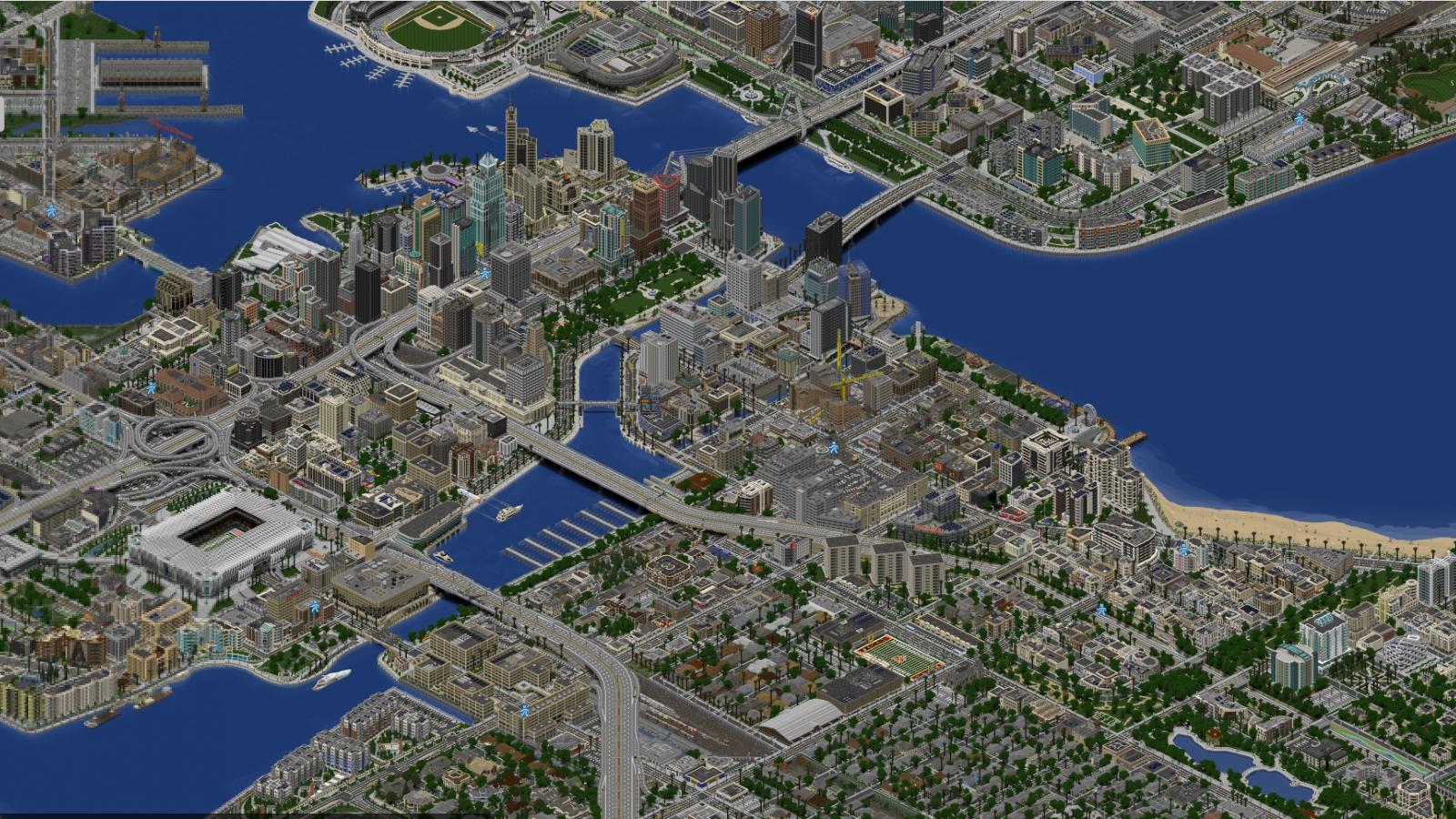 The largest, most realistic Minecraft city | Rock Paper Shotgun