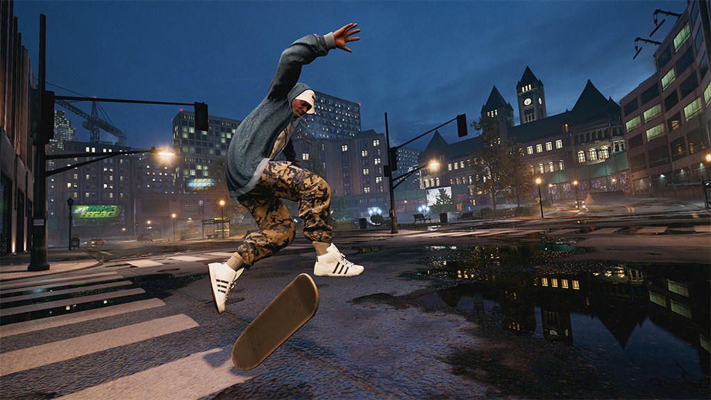 A screenshot of a skater in Tony Hawk's Pro Skater 1+2 doing a sick trick.