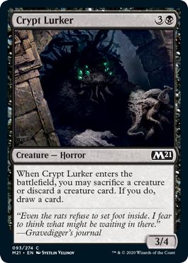 Crypt Lurker card from Minion variant set for Magic: Arena's Jumpstart.