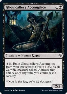 Ghoulcallers Accomplice card from Minion variant set for Magic: Arena's Jumpstart.