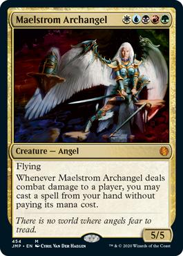 Maelstrom Archangel card for MTG Arena's Jumpstart.