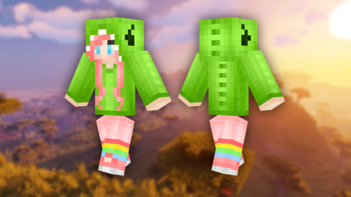 Dino Girl - Cute Minecraft skins
