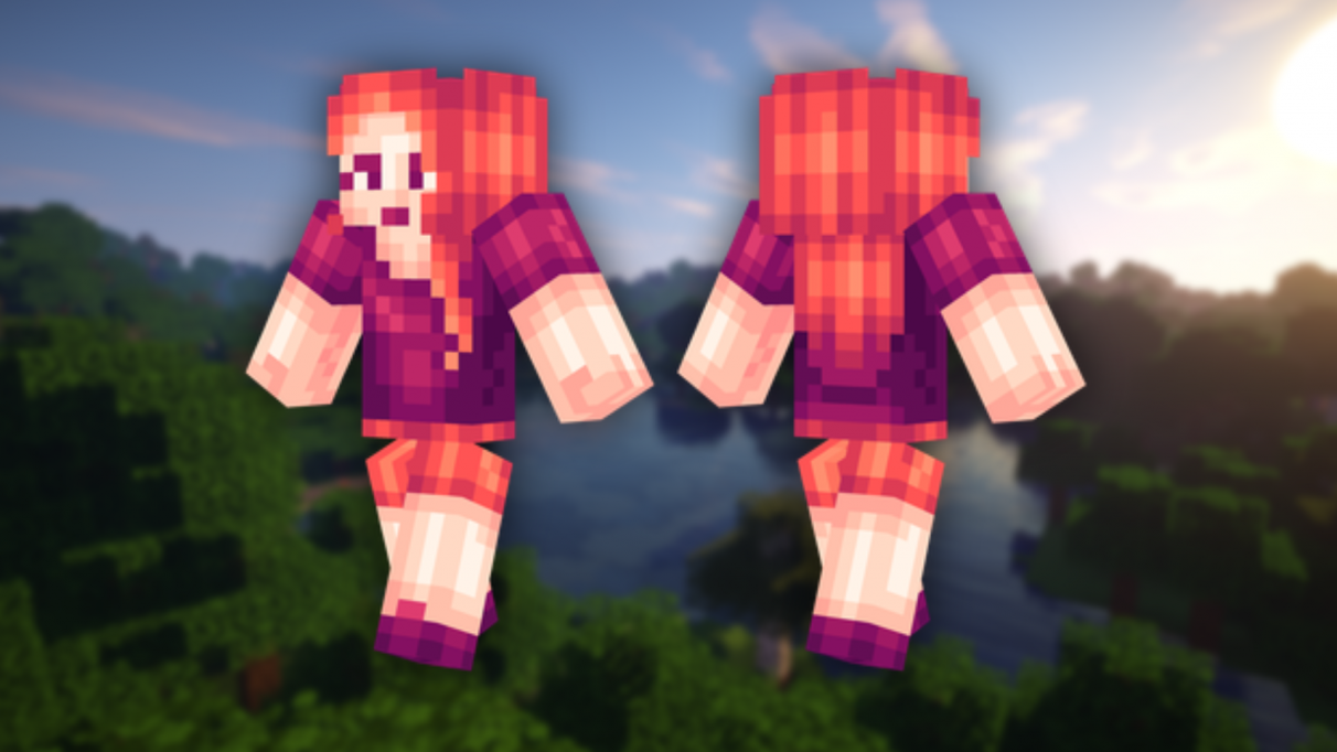 Plum Girl - Cute Minecraft skins