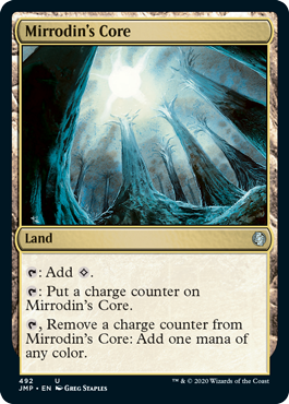 Mirrodin's Core card from the Rainbow set in MTG Arena's Jumpstart.
