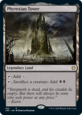 Phyrexian Tower card for Magic Arena.