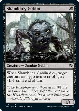 Shambling Goblin card from Minion variant set for Magic: Arena's Jumpstart.
