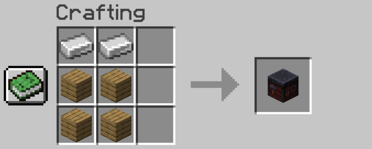 Minecraft Smithing Table crafting recipe