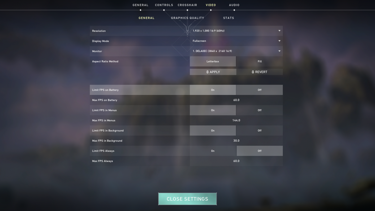 Valorant PC graphics settings