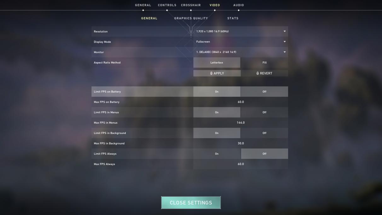 Valorant PC graphics settings