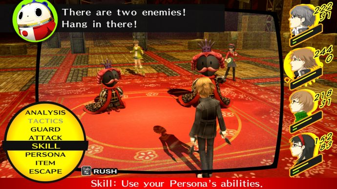 A battle scene from Persona 4 on PC.