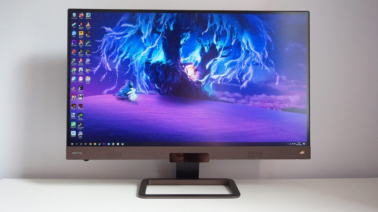An image of the BenQ EX2780Q face-on