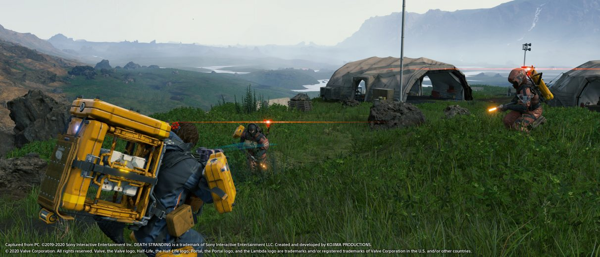 A screenshot of Death Stranding with Nvidia's DLSS 2.0 tech enabled