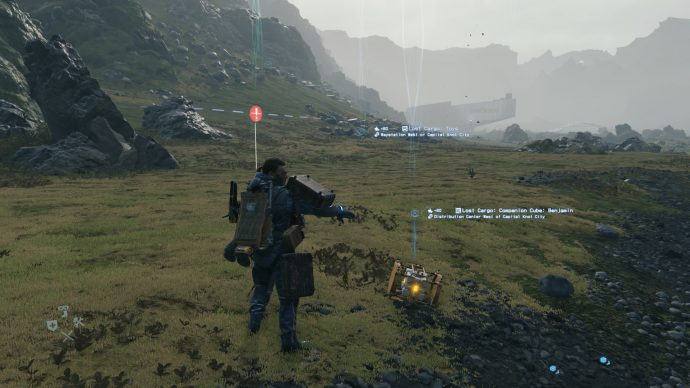 The first companion cube used to unlock Half-Life items in Death Stranding.