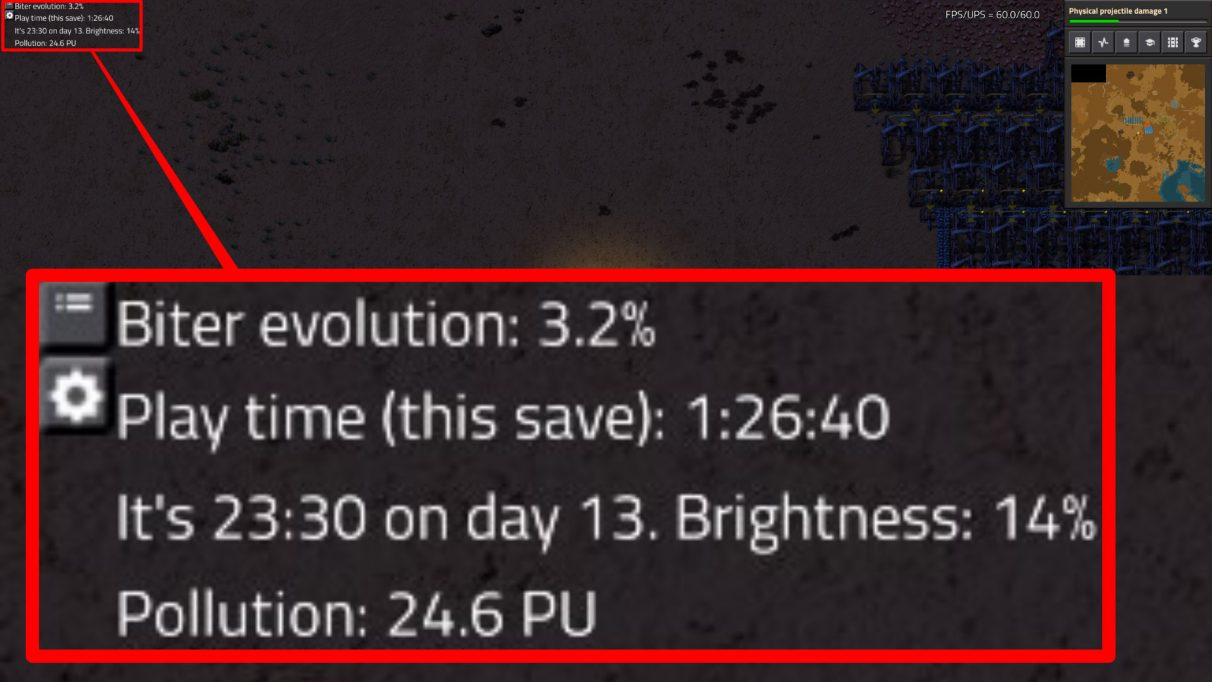 EvoGUI allows you to see, among other things, the current Biter evolution rate.