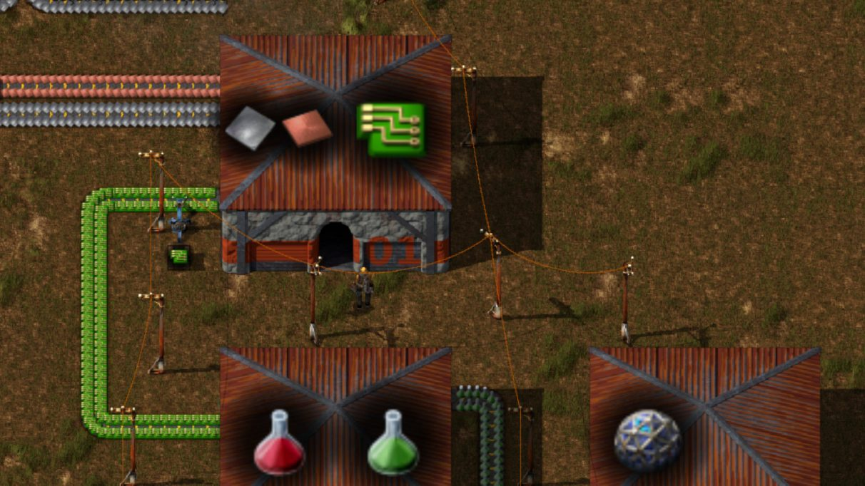 Screenshot taken from the Factorissimo2 page on the Factorio Mod Portal.