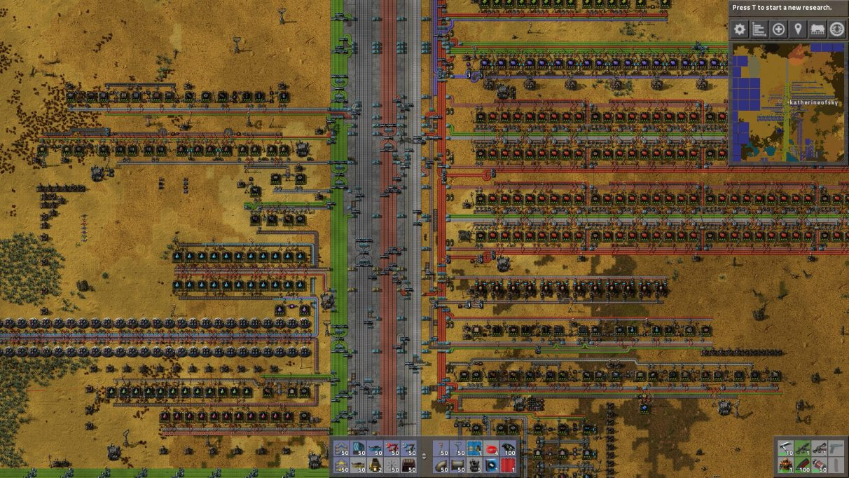 Having a main bus in Factorio allows you to easily organise your resources and expand your factory.