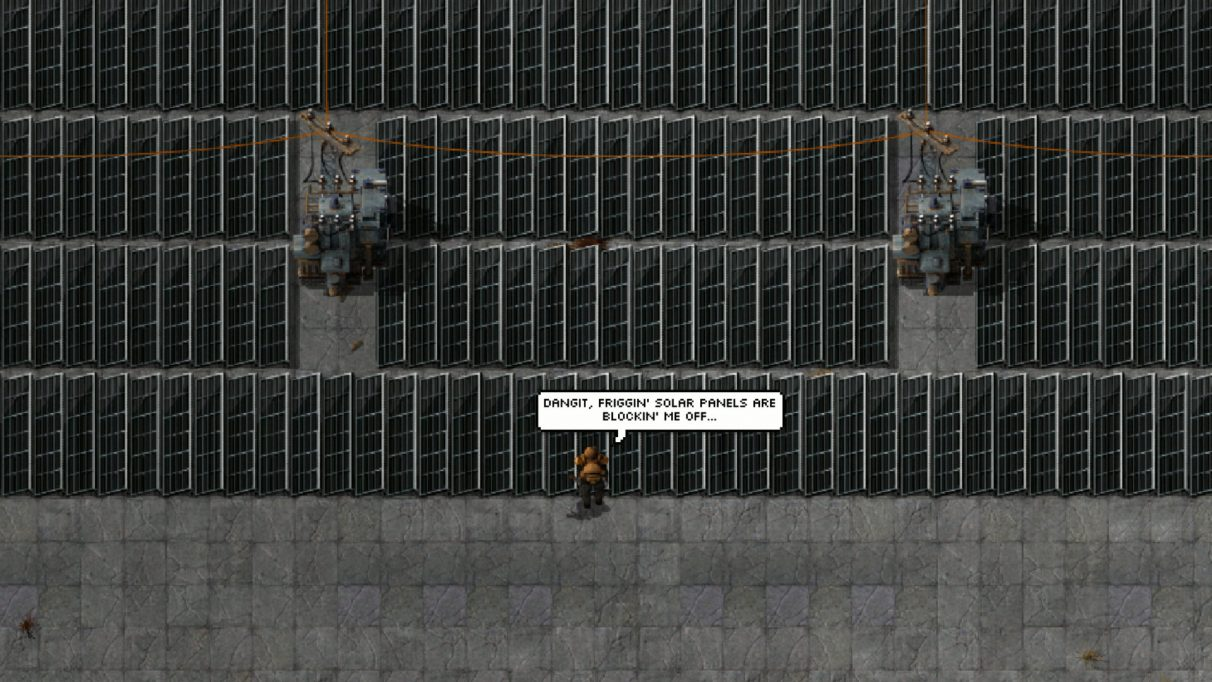 Screenshot taken from the Squeak Through page on the Factorio Mod Portal.