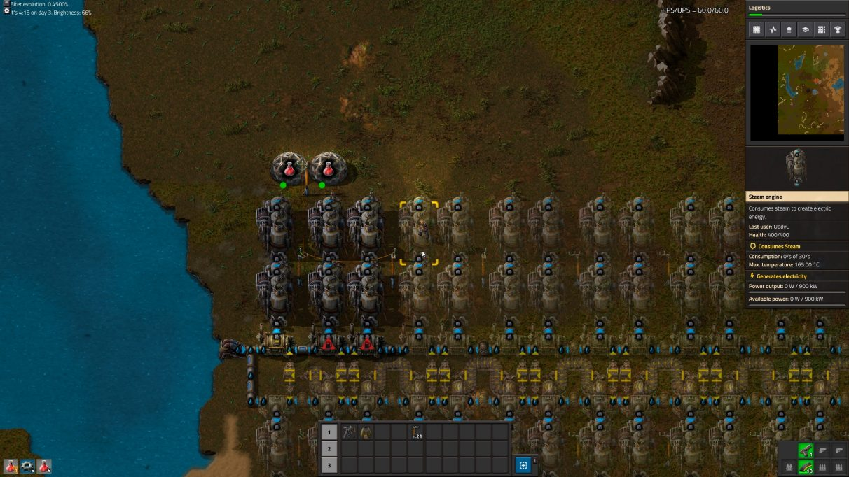 The start of your research journey in Factorio doesn't have to be elegant, it just has to work.