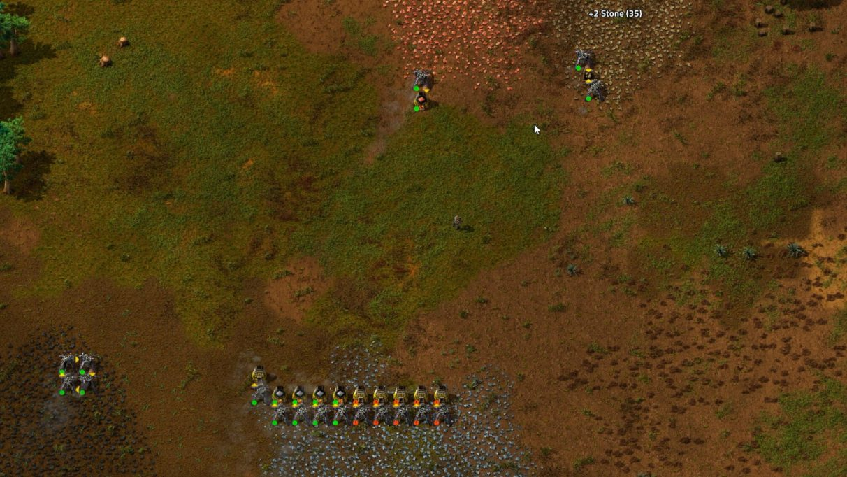Getting a basic mining setup on each starting ore patch is your first big goal in Factorio.