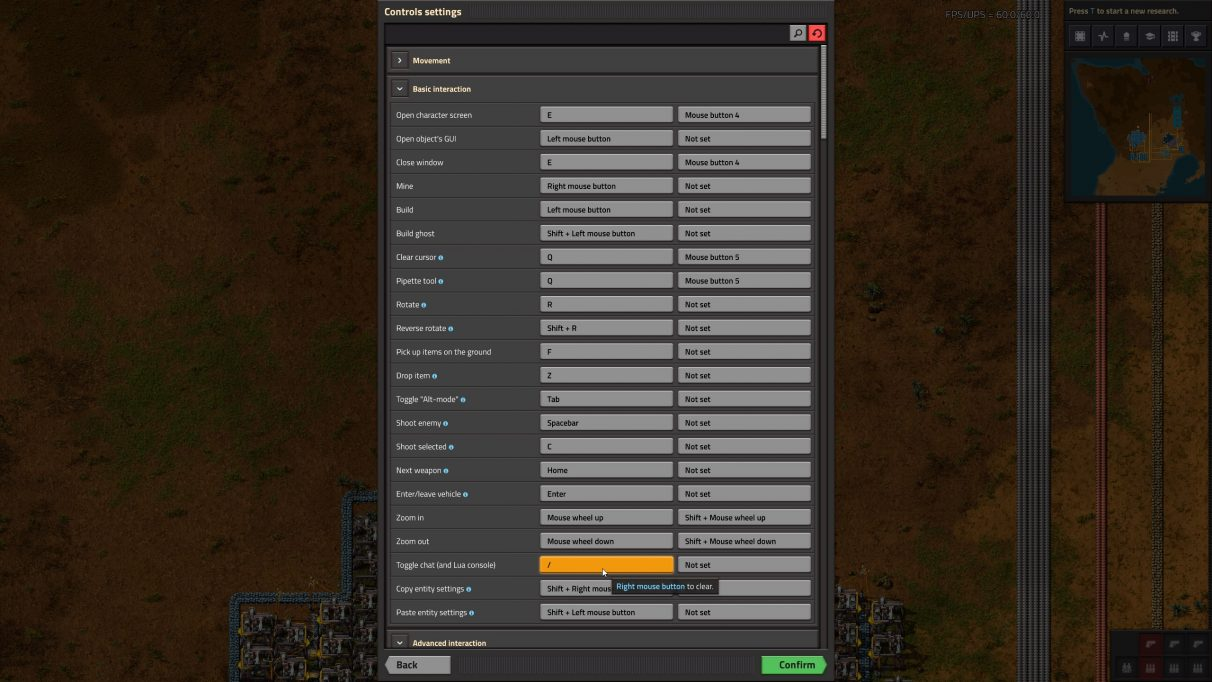 You can find the key that opens the Factorio console in the Settings menu.