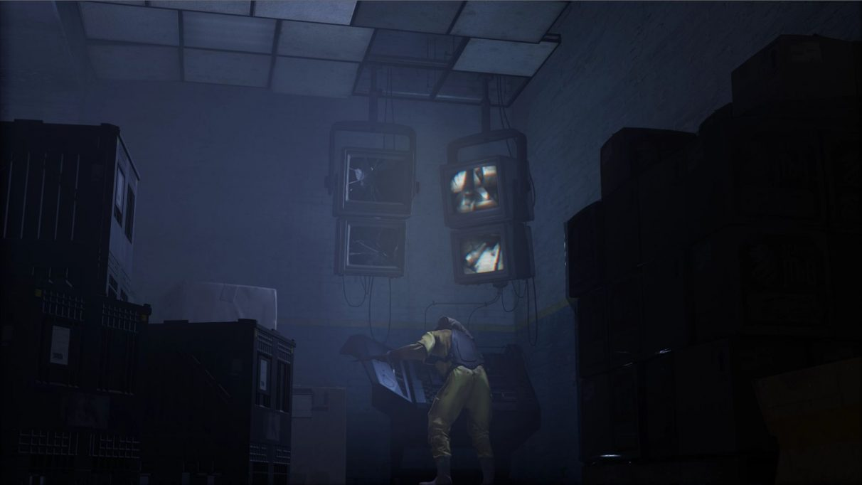 A screenshot showing Jeff in Deep Inside, a mod for Half-Life: Alyx.