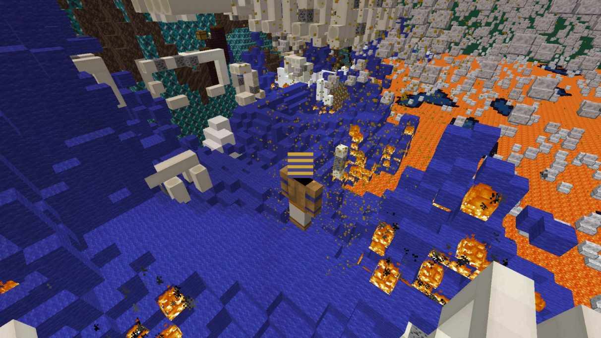 A sea of blue wool bursts into flames.