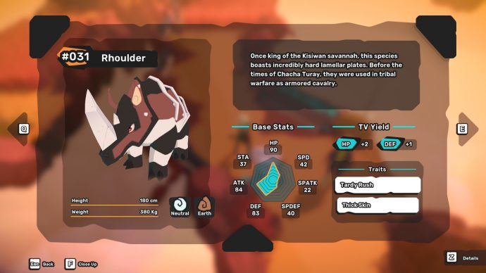 Tempedia entry for Rhoulder