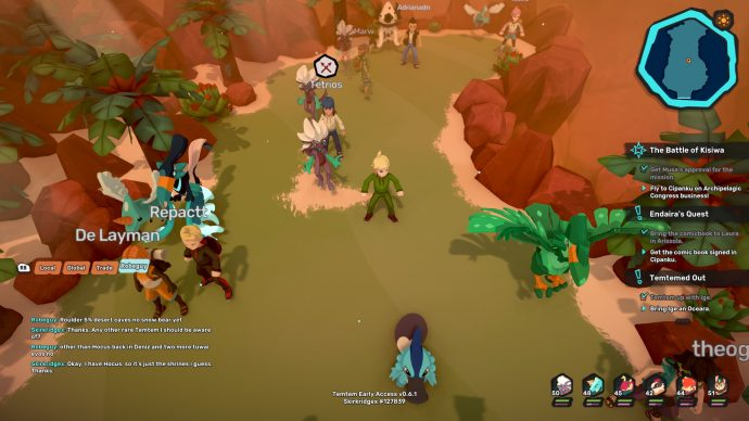The central cave in Talas Desert is where to find Rhoulder in Temtem. It's the one that has a lot of foliage.