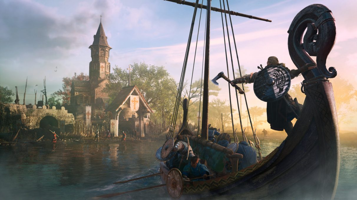 A longboat from Assassin's Creed Valhalla.