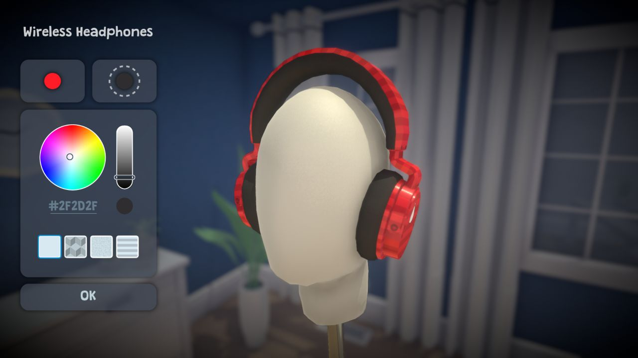 A screenshot of Paralives' highly personalised character creation and accessory editing tool.