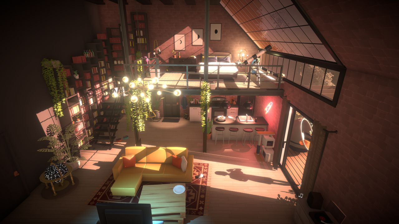A screenshot of an interior living room from Paralives.