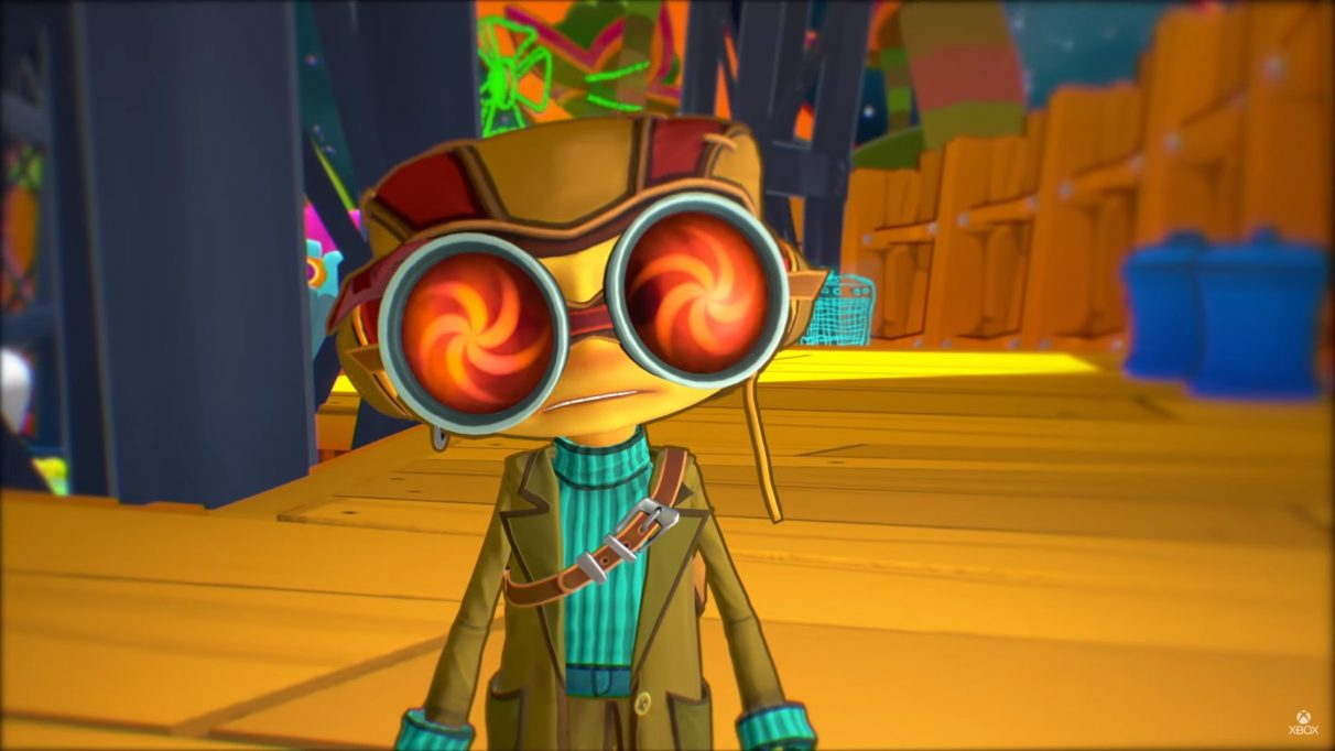 A screenshot of Raz from Psychonauts 2.