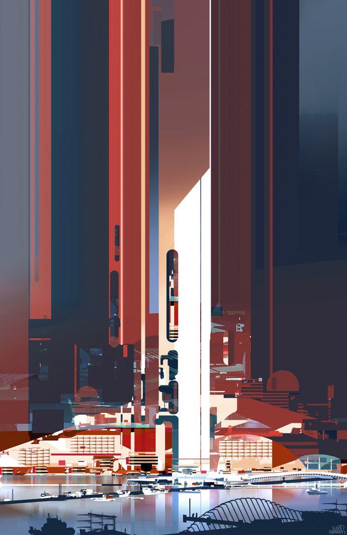 Futuristic Port by Sparth.