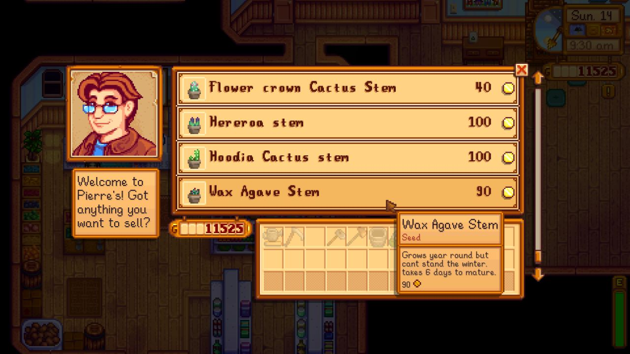 You can buy your new Stardew Valley cactus pals from Pierre's General Store